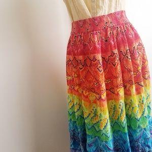 Phool Boho Maxi Skirt. 1970's